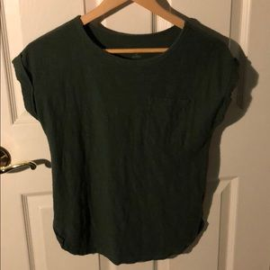 Olive green short sleeve pocket tee